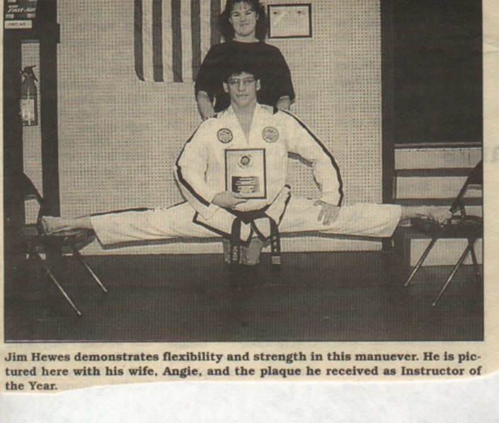 Jim Hewes, 4th dan Chief Instructor & Angie Hewes, Business Manager